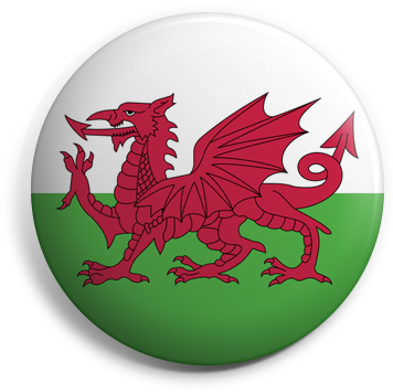 Wales button badge