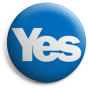 Scottish Independence Yes badge