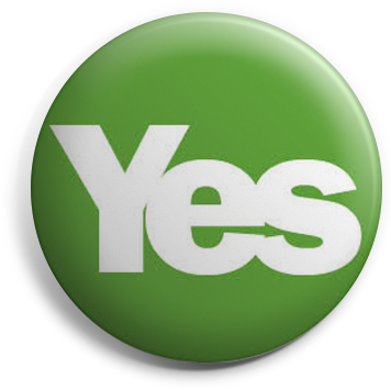 Green Yes button badge