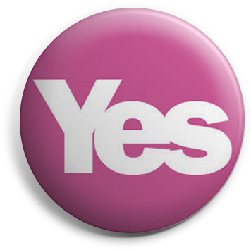 Pink Yes button badge