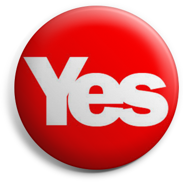 Red Yes button badge