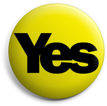 Yellow Yes button badge